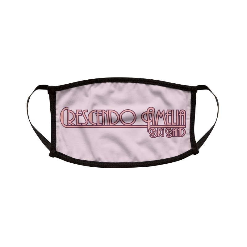 Crescendo Amelia Big Band - Pink Logo Accessories Face Mask by Crescendo Amelia Merchandise