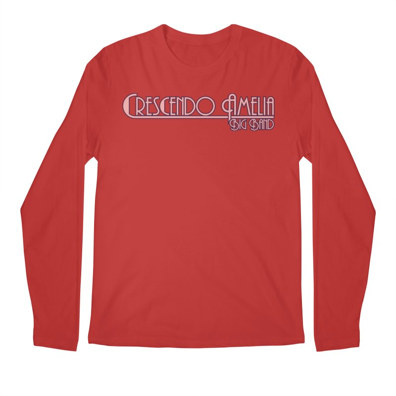 Crescendo Amelia Big Band - Pink Logo Men's Longsleeve T-Shirt by Crescendo Amelia Merchandise