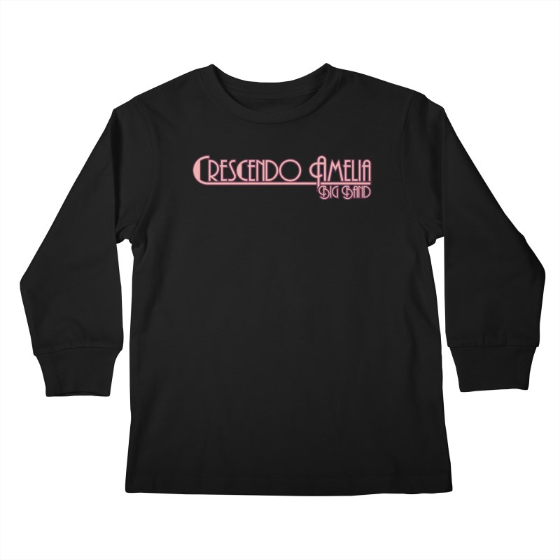 Crescendo Amelia Big Band - Pink Logo Kids Longsleeve T-Shirt by Crescendo Amelia Merchandise