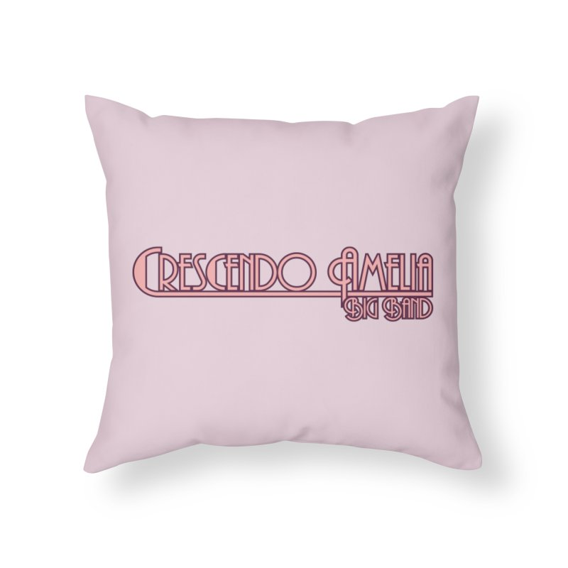 Crescendo Amelia Big Band - Pink Logo Home Throw Pillow by Crescendo Amelia Merchandise