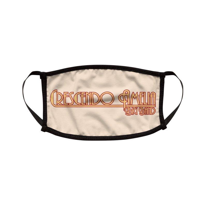 Crescendo Amelia Big Band - Orange Logo Accessories Face Mask by Crescendo Amelia Merchandise