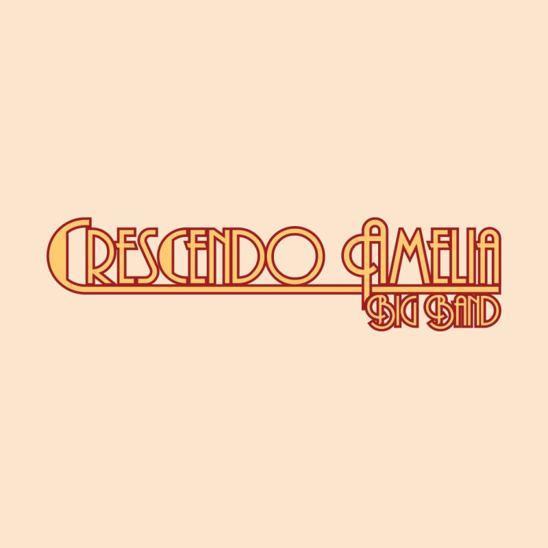 Crescendo Amelia Big Band - Orange Logo Men's T-Shirt by Crescendo Amelia Merchandise