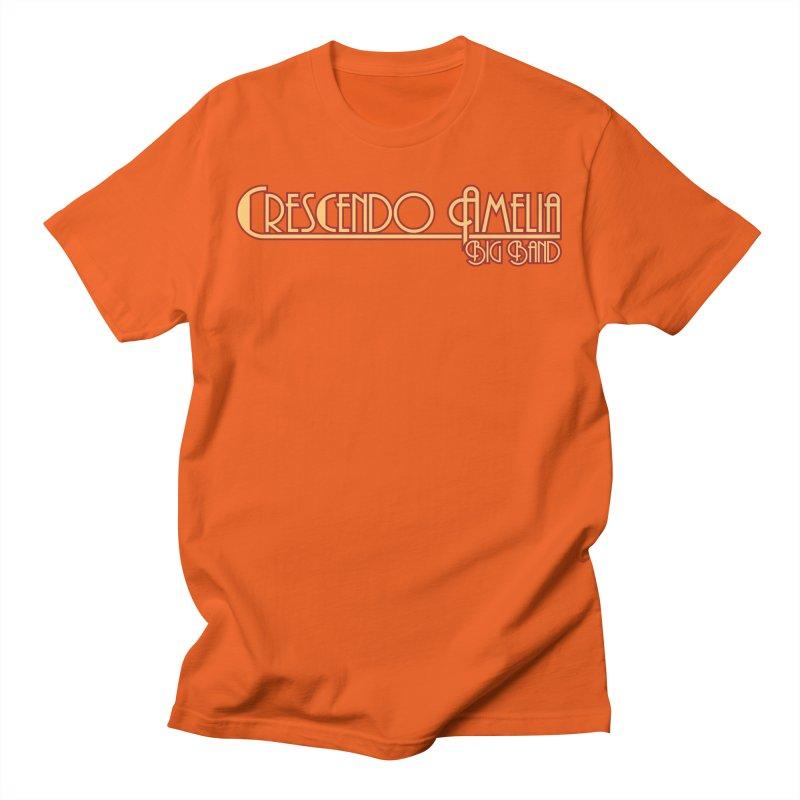 Crescendo Amelia Big Band - Orange Logo Men's T-Shirt by Crescendo Amelia Merchandise