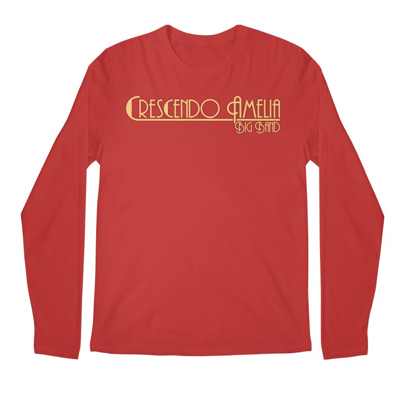 Crescendo Amelia Big Band - Orange Logo Men's Longsleeve T-Shirt by Crescendo Amelia Merchandise