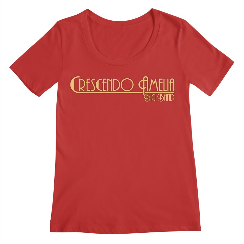 Crescendo Amelia Big Band - Orange Logo Women's Scoop Neck by Crescendo Amelia Merchandise
