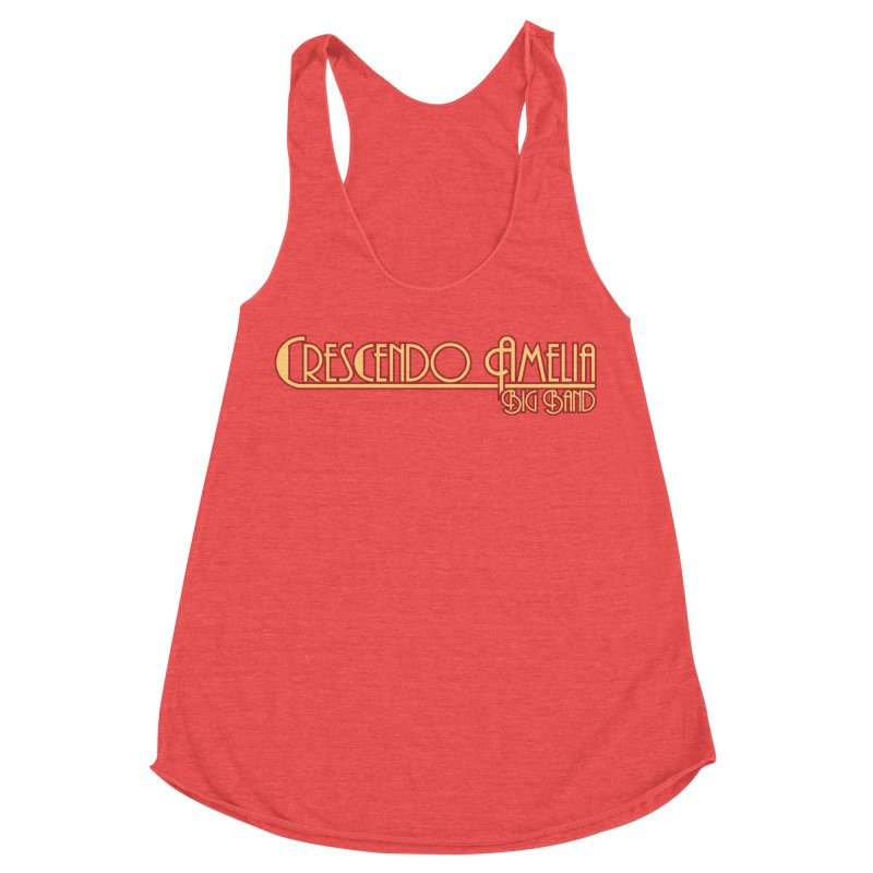 Crescendo Amelia Big Band - Orange Logo Women's Racerback Triblend Tank by Crescendo Amelia Merchandise