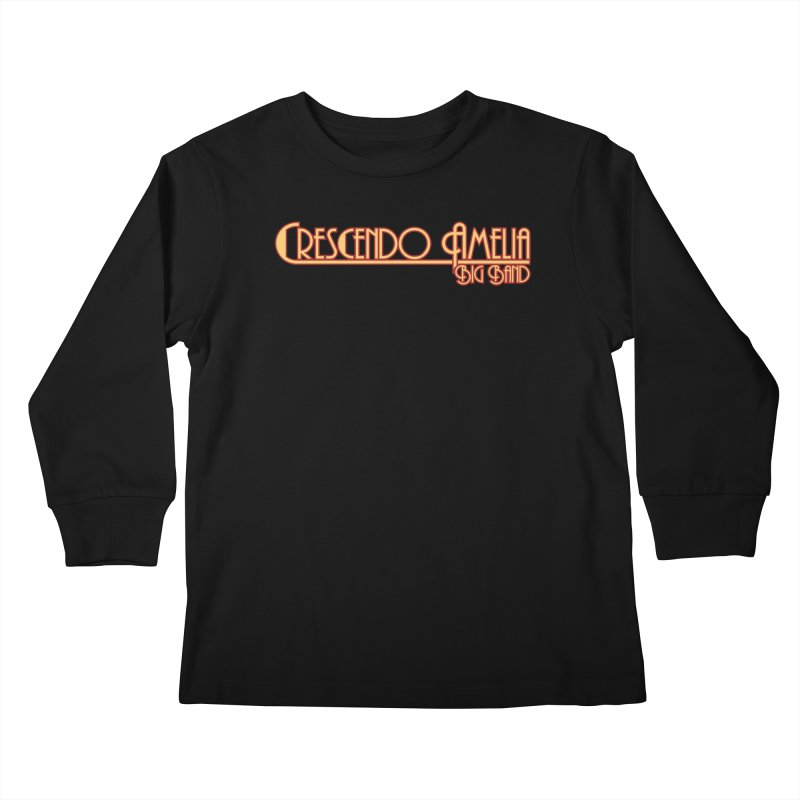 Crescendo Amelia Big Band - Orange Logo Kids Longsleeve T-Shirt by Crescendo Amelia Merchandise