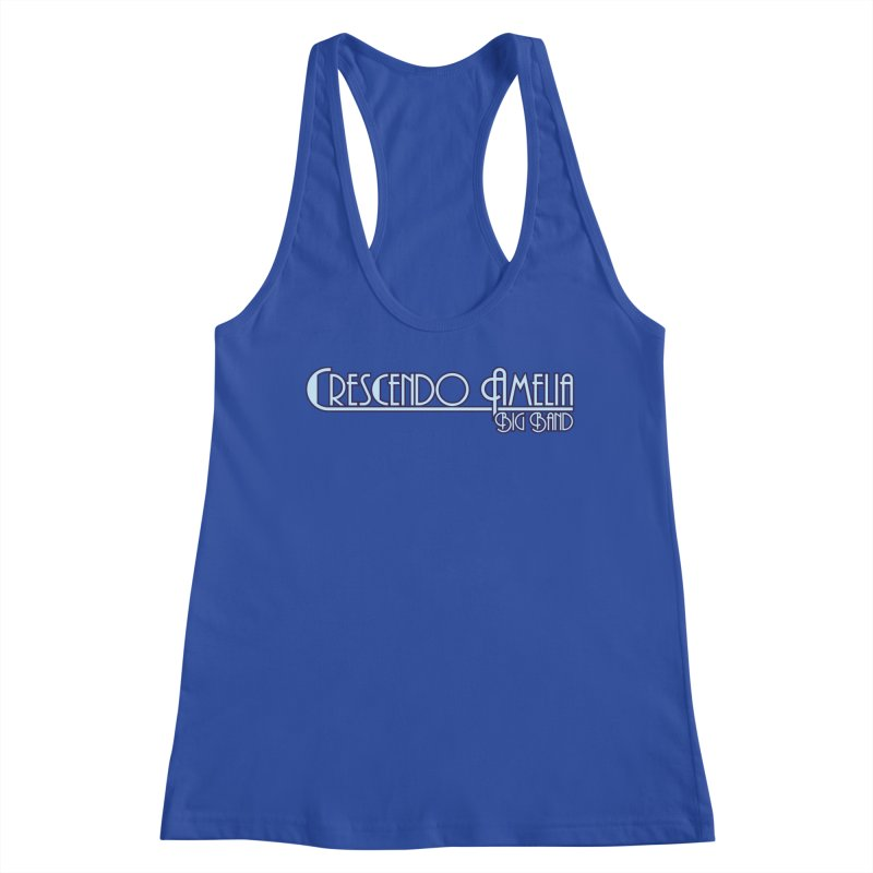 Crescendo Amelia Big Band - Purple Logo Women's Racerback Tank by Crescendo Amelia Merchandise