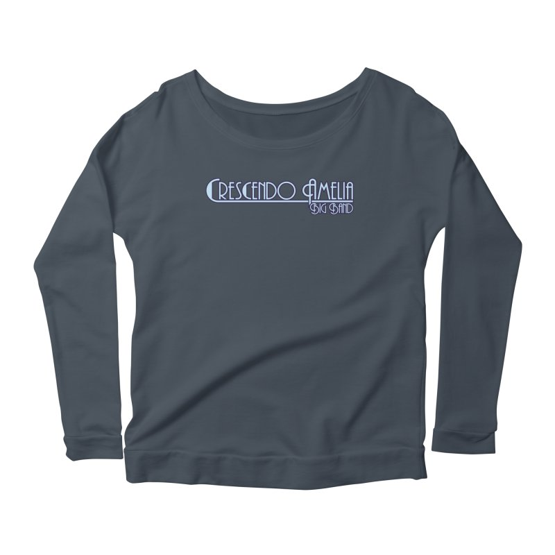 Crescendo Amelia Big Band - Purple Logo Women's Scoop Neck Longsleeve T-Shirt by Crescendo Amelia Merchandise