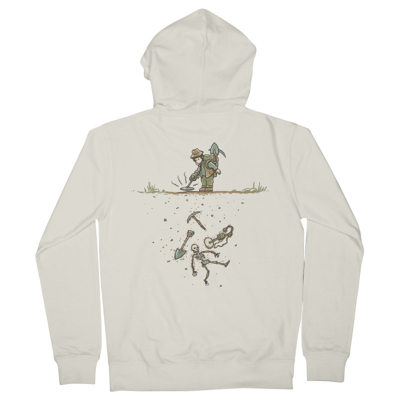 Detecting A Bit Of Irony Women's French Terry Zip-Up Hoody by CrescentDebris's Artist Shop