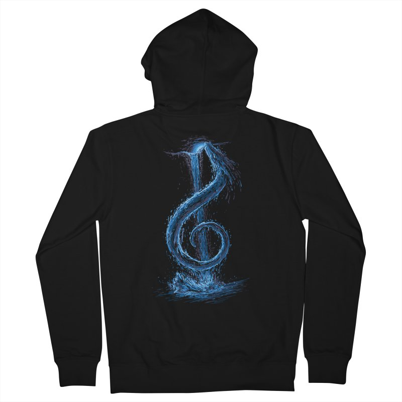 Trebled Waters Men's French Terry Zip-Up Hoody by CrescentDebris's Artist Shop