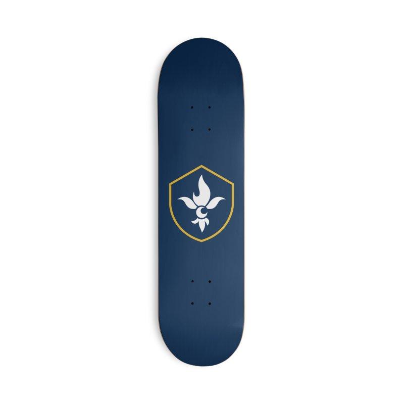Fleur De Shield Accessories Skateboard by Crescent Esports Shop