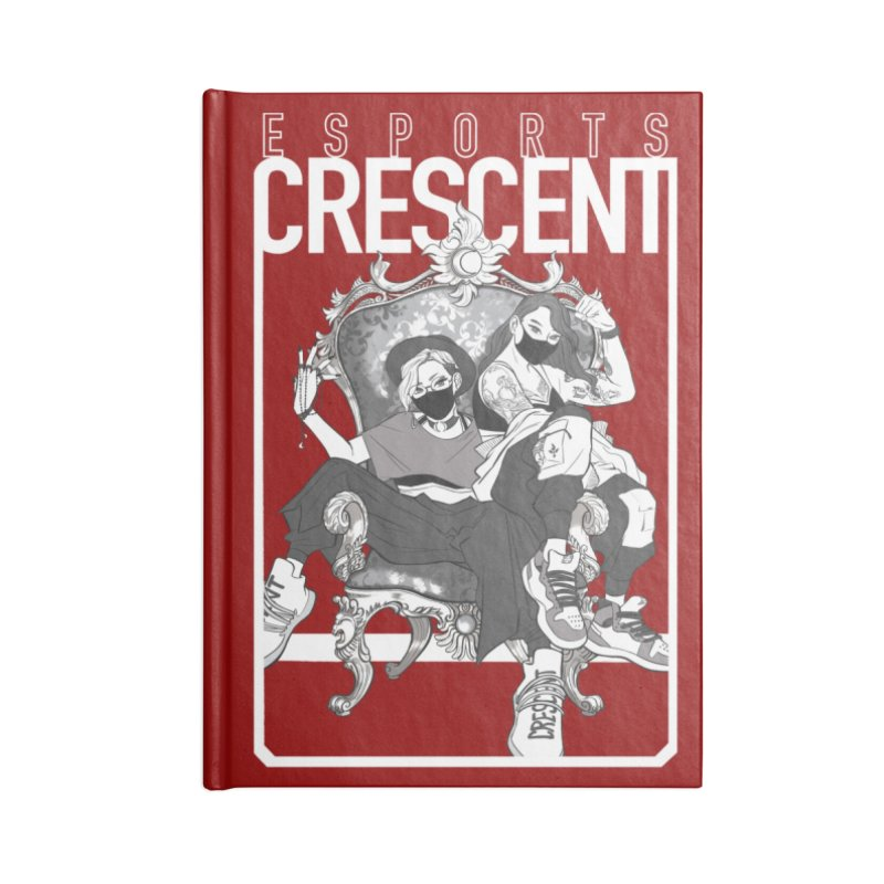 Rouge Queens of Crescent   Accessories and Prints Accessories Notebook by Crescent Esports Shop
