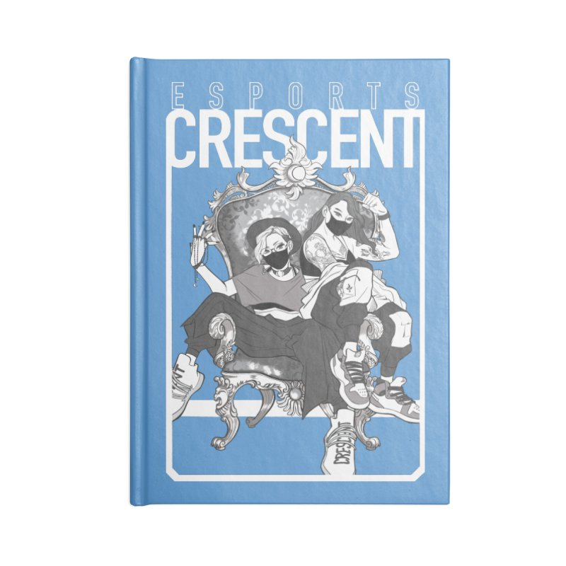 Bleue Queens of Crescent   Accessories and Prints Accessories Notebook by Crescent Esports Shop