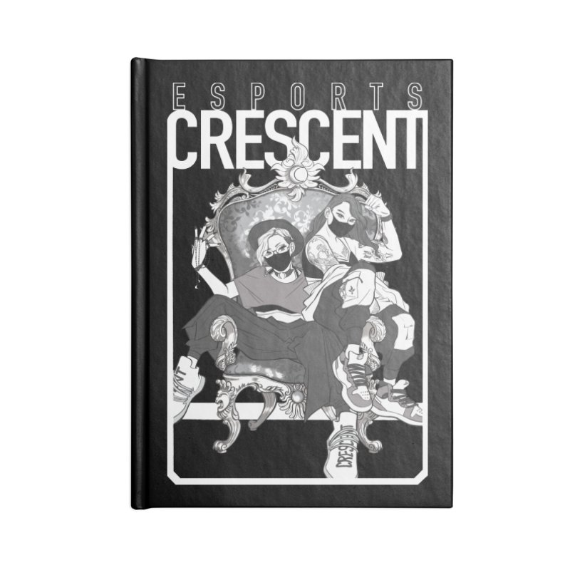 Noire Queens of Crescent   Accessories and Prints Accessories Notebook by Crescent Esports Shop