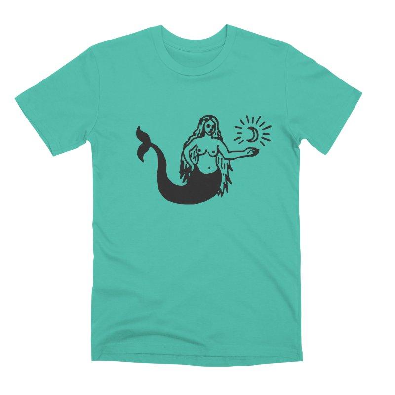 Mermaid in Men's Premium T-Shirt Sea Green by C R E W