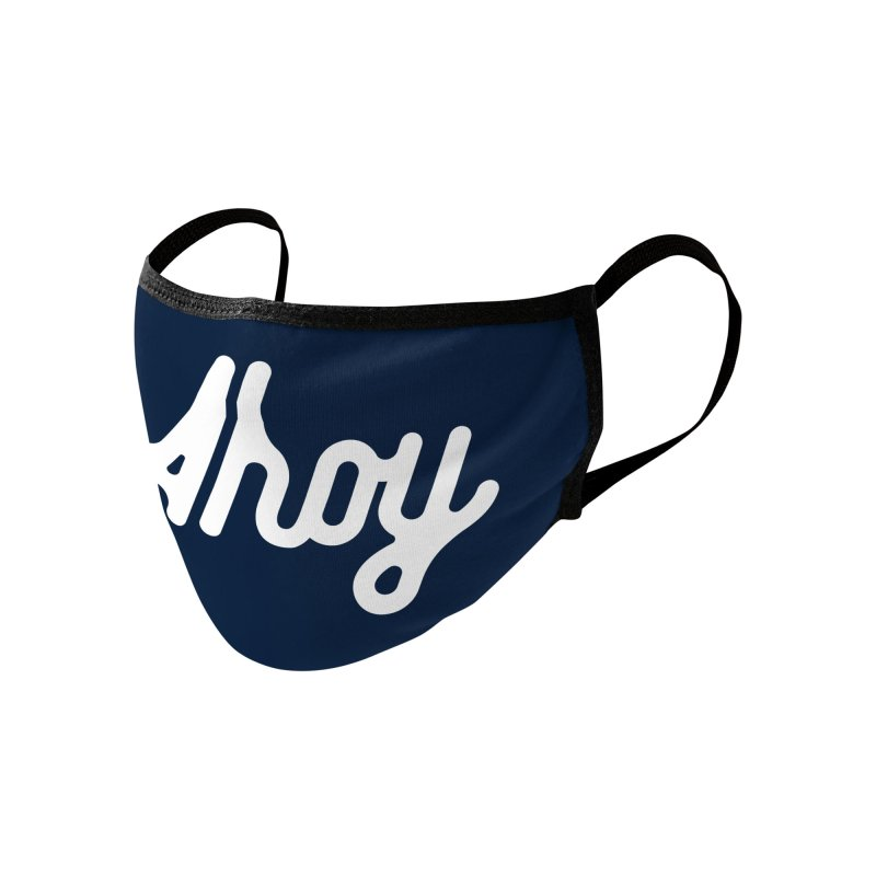 Ahoy – white script Accessories Face Mask by C R E W