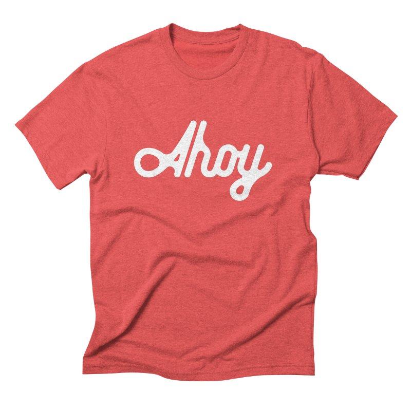 Ahoy – white script Men's T-Shirt by C R E W