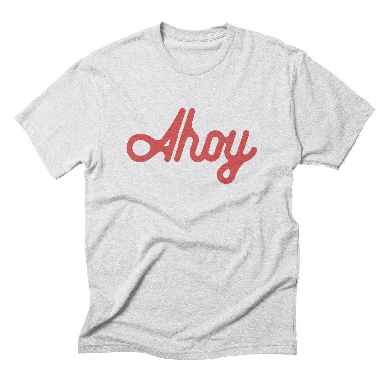 Ahoy – red script Men's T-Shirt by C R E W