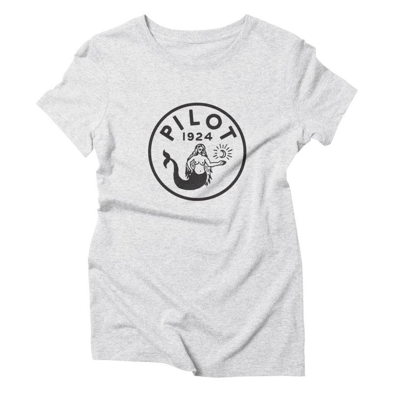 Pilot Mermaid Moon Women's T-Shirt by C R E W