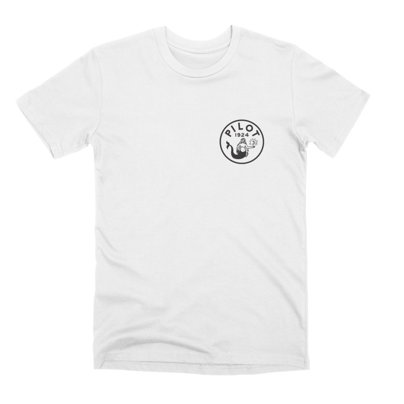 Pilot Mermaid Moon in Men's Premium T-Shirt White by C R E W