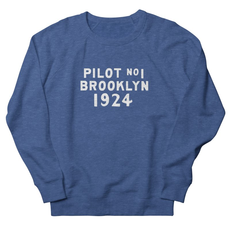Pilot No.1 Brooklyn in Men's French Terry Sweatshirt Heather Royal by C R E W