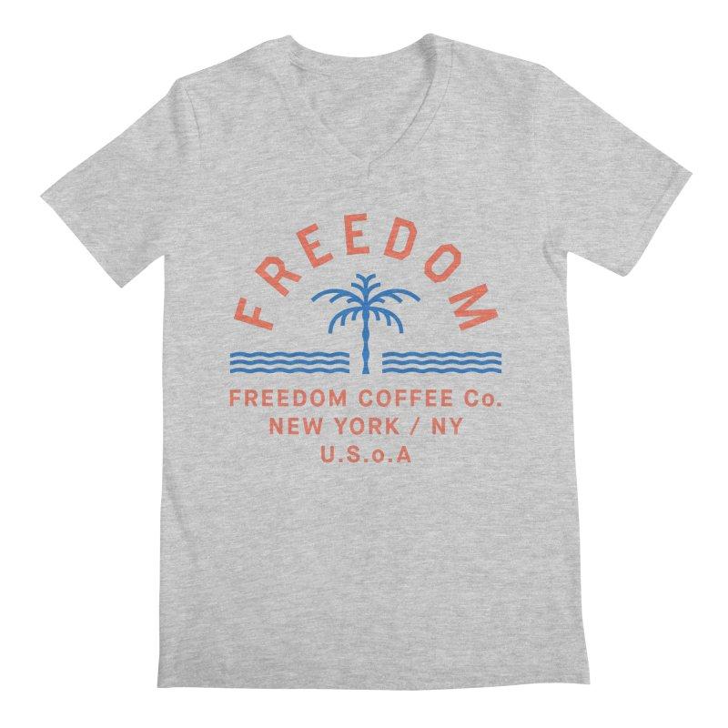 Freedom Coffee Company Men's Regular V-Neck by C R E W