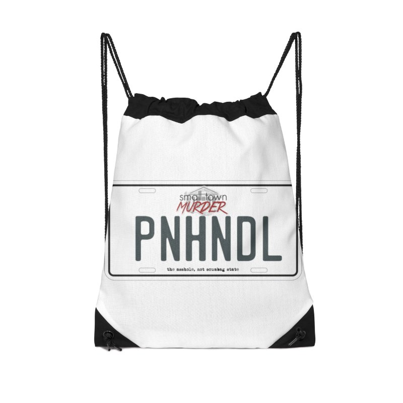 PNHNDL Accessories Drawstring Bag Bag by True Crime Comedy Team Shop