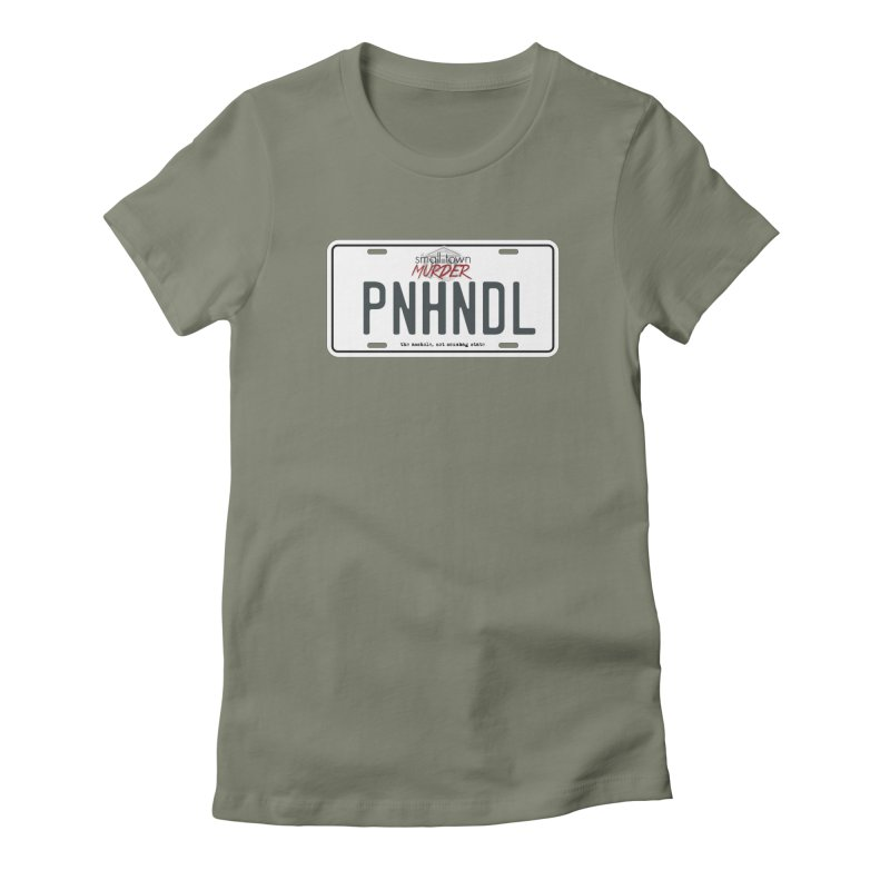 PNHNDL Women's Fitted T-Shirt by True Crime Comedy Team Shop