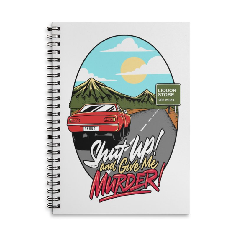 Let's Go On a Trip, Jimmie Accessories Lined Spiral Notebook by True Crime Comedy Team Shop