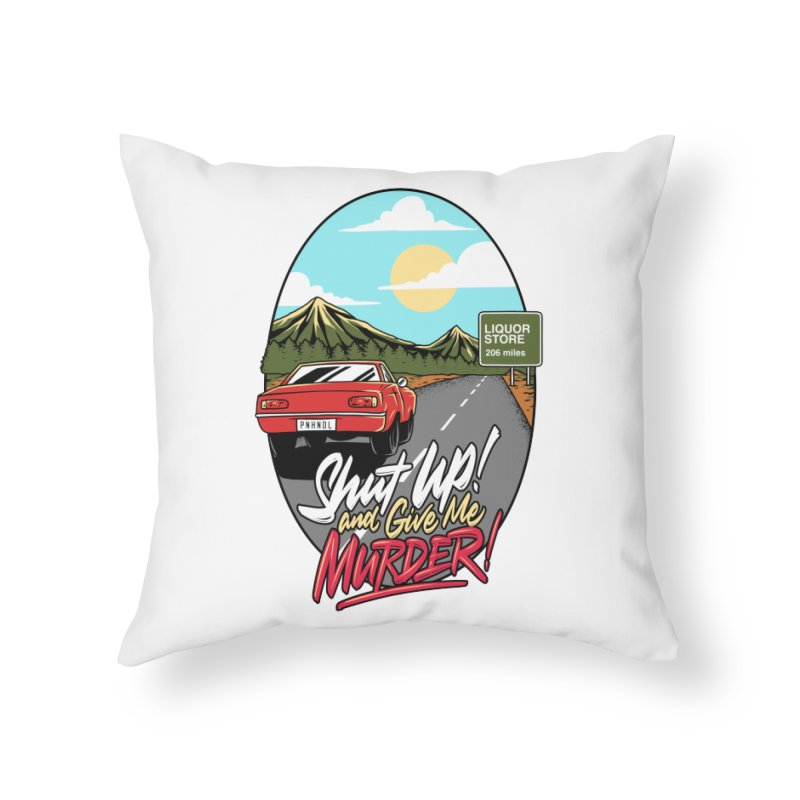 Let's Go On a Trip, Jimmie Home Throw Pillow by True Crime Comedy Team Shop