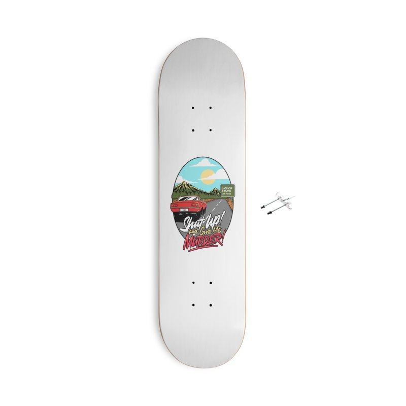 Let's Go On a Trip, Jimmie Accessories With Hanging Hardware Skateboard by True Crime Comedy Team Shop