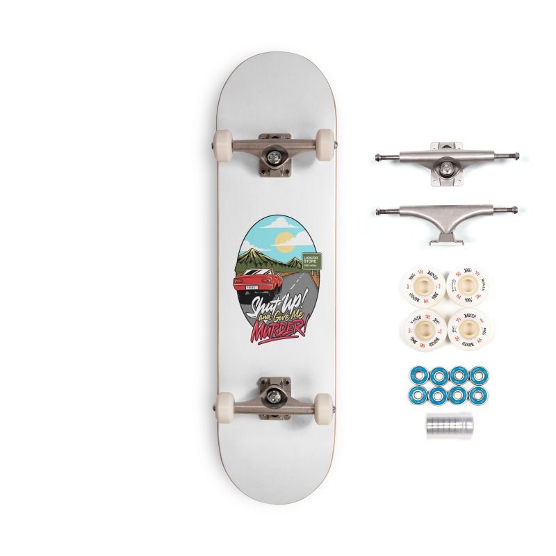 Let's Go On a Trip, Jimmie Accessories Complete - Premium Skateboard by True Crime Comedy Team Shop