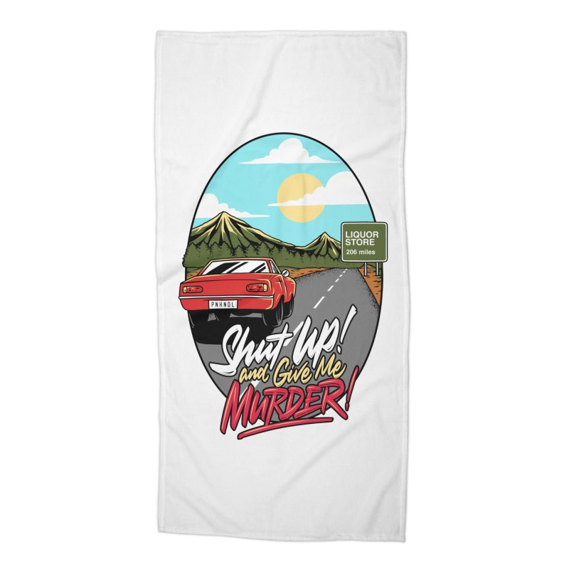 Let's Go On a Trip, Jimmie Accessories Beach Towel by True Crime Comedy Team Shop