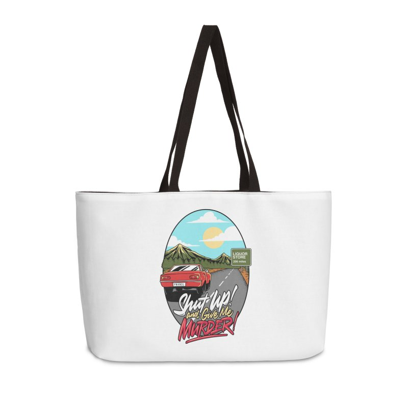 Let's Go On a Trip, Jimmie Accessories Weekender Bag Bag by True Crime Comedy Team Shop