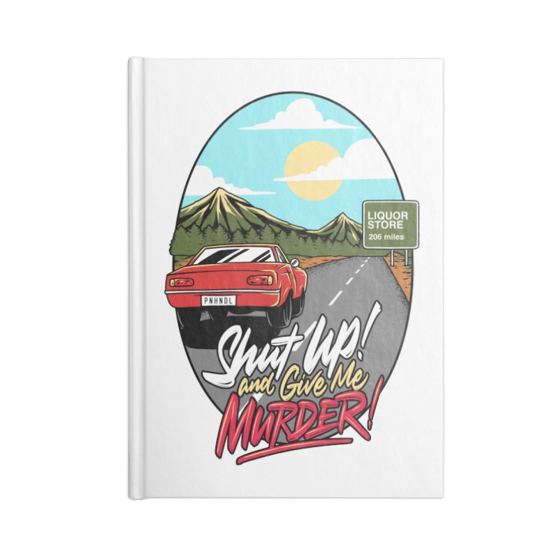 Let's Go On a Trip, Jimmie Accessories Lined Journal Notebook by True Crime Comedy Team Shop