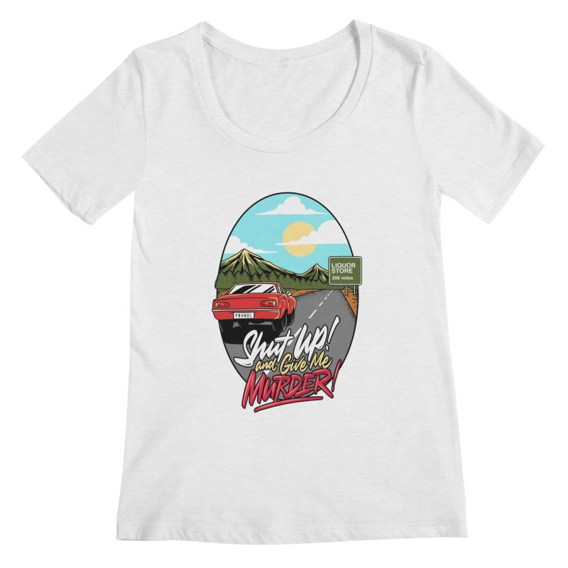 Let's Go On a Trip, Jimmie Women's Regular Scoop Neck by True Crime Comedy Team Shop