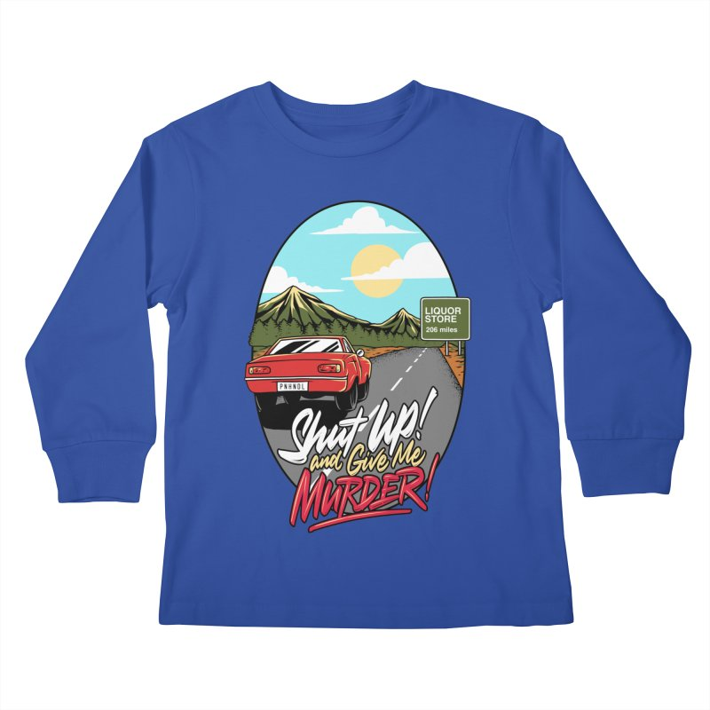 Let's Go On a Trip, Jimmie Kids Longsleeve T-Shirt by True Crime Comedy Team Shop