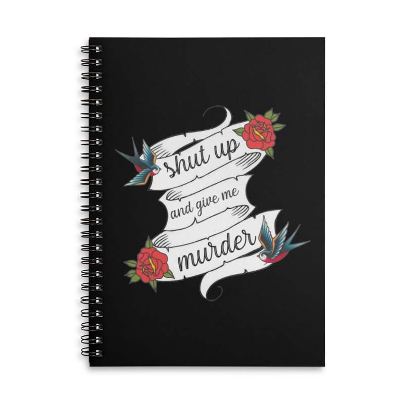 SUAGMM Tattoo Accessories Lined Spiral Notebook by True Crime Comedy Team Shop