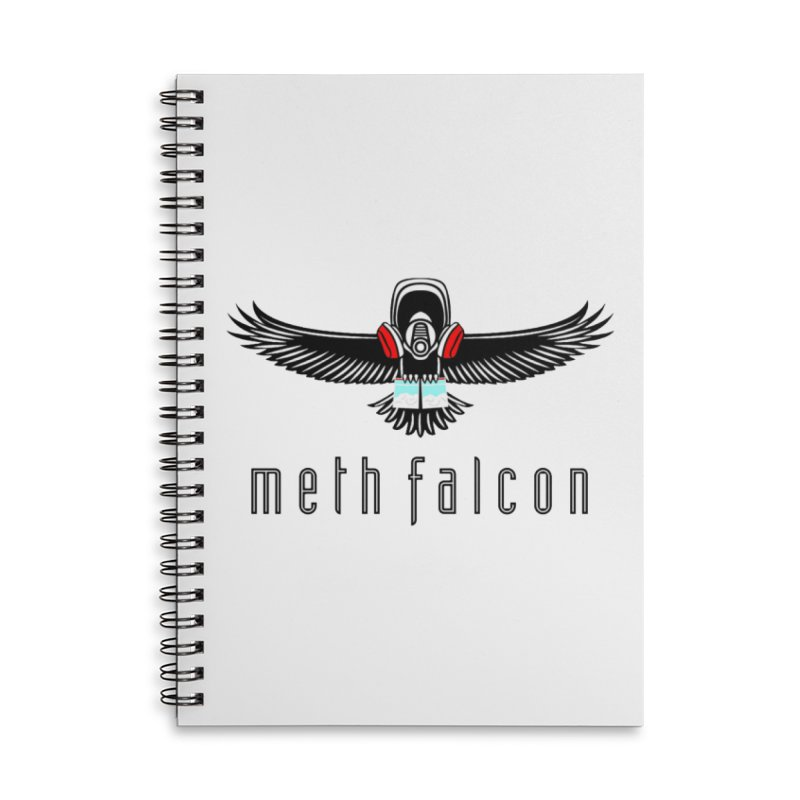 meth falcon Accessories Lined Spiral Notebook by True Crime Comedy Team Shop