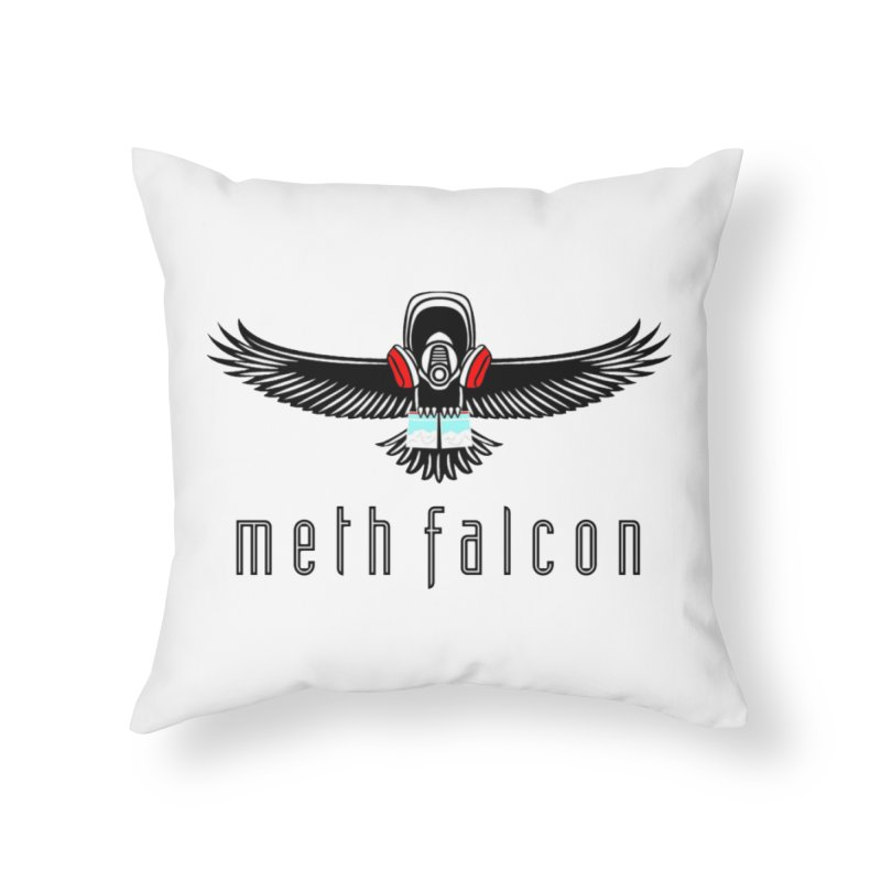 meth falcon Home Throw Pillow by True Crime Comedy Team Shop