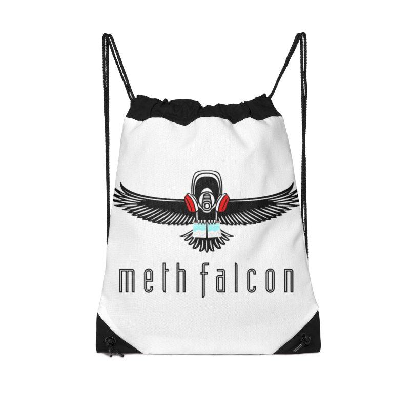 meth falcon Accessories Drawstring Bag Bag by True Crime Comedy Team Shop
