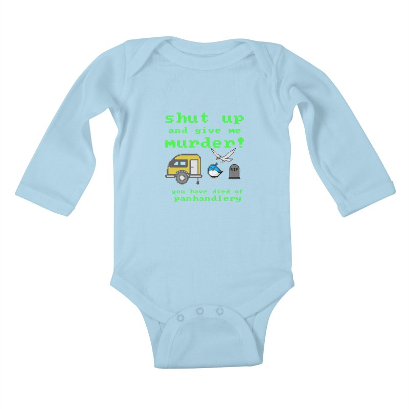 Panhandle Trail Kids Baby Longsleeve Bodysuit by True Crime Comedy Team Shop