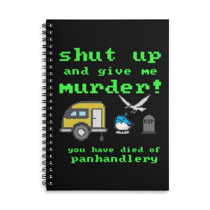 Panhandle Trail Accessories Lined Spiral Notebook by True Crime Comedy Team Shop