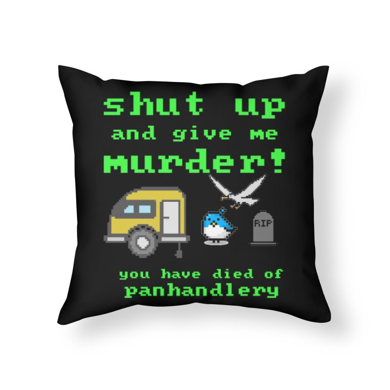 Panhandle Trail Home Throw Pillow by True Crime Comedy Team Shop