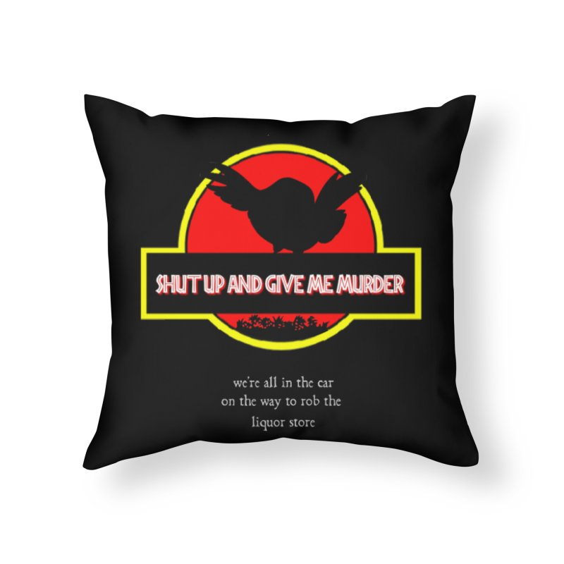Jurassic Pocket Robin Home Throw Pillow by True Crime Comedy Team Shop