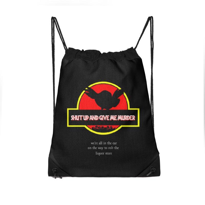 Jurassic Pocket Robin Accessories Drawstring Bag Bag by True Crime Comedy Team Shop