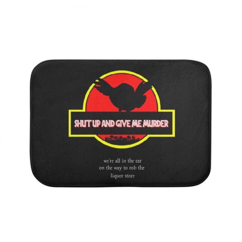 Jurassic Pocket Robin Home Bath Mat by True Crime Comedy Team Shop
