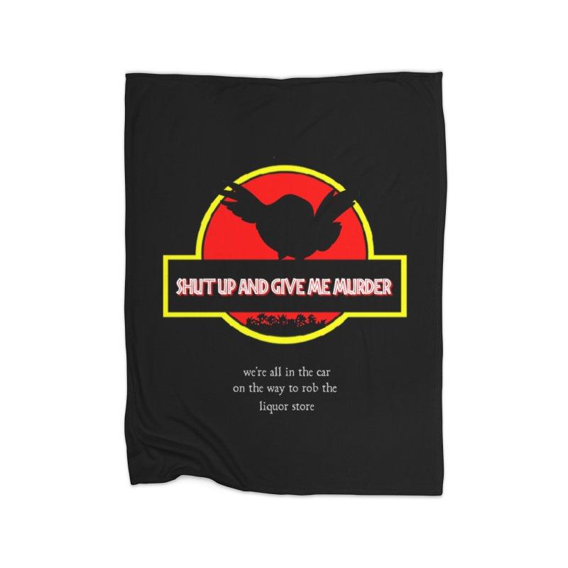 Jurassic Pocket Robin Home Fleece Blanket Blanket by True Crime Comedy Team Shop