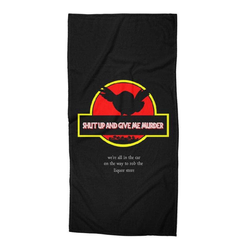 Jurassic Pocket Robin Accessories Beach Towel by True Crime Comedy Team Shop